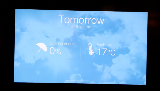 Screen 1: Tomorrow's Forecast