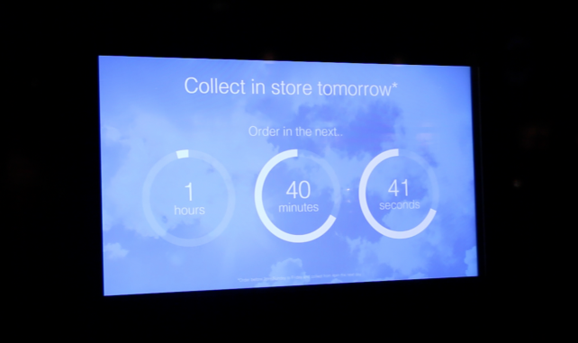 Screen 3: Click & Collect Countdown