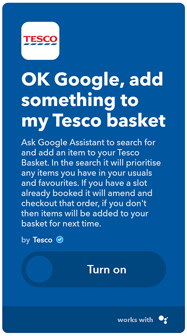 ifttt tesco google home small